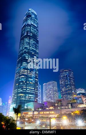 Moderne Bürogebäude im Zentrum von Hongkong. - Stockfoto