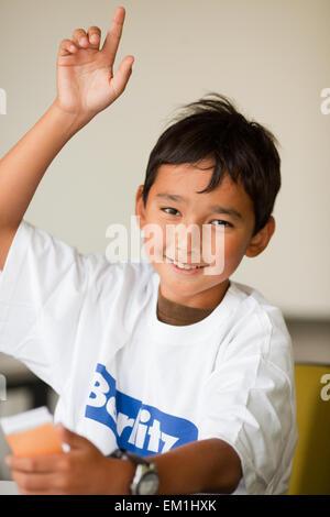 Berlitz Manchester Sprachstudenten glücklich - Stockfoto