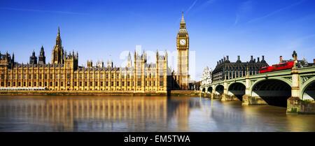 Big Ben und die Houses of Parliament, London, UK - Stockfoto
