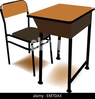 Student-Stuhl im Unterricht mit den Standfuß eingesetzt. Vektor-Illustration. - Stockfoto