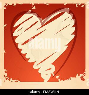 Grunge Herz Hintergrund. - Stockfoto
