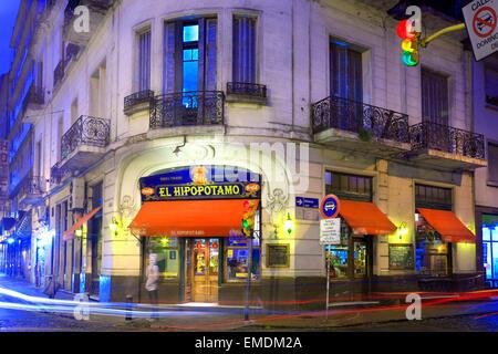"""Bar """"El Hipopotamo"""". San Telmo, Buenos Aires, Argentinien - Stockfoto"""