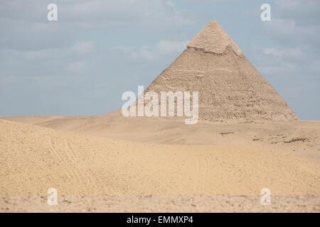 Die Pyramiden von Gizeh, in der Nähe von Kairo in Ägypten. - Stockfoto