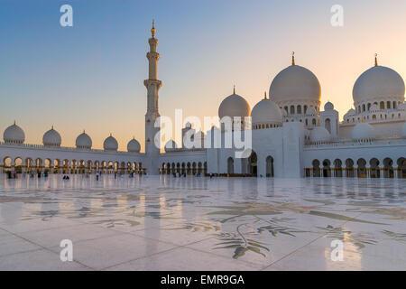 Sheikh Zayed Grand Moschee Stockfoto