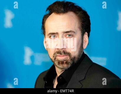 """15.FEBRUARY.2013. BERLIN NICOLAS CAGE BESUCHT """"DIE CROODS"""" PHOTOCALL AUF DER 63. INTERNATIONALEN FILMFESTSPIELE - Stockfoto"""