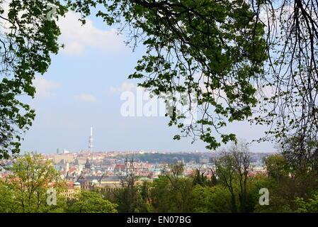 Prag-Blick vom Areal der Pragerburg - Stockfoto