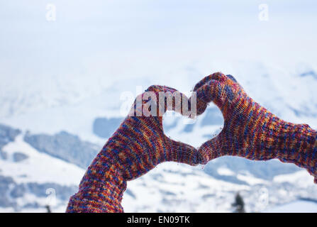 Winter Liebe Stockfoto