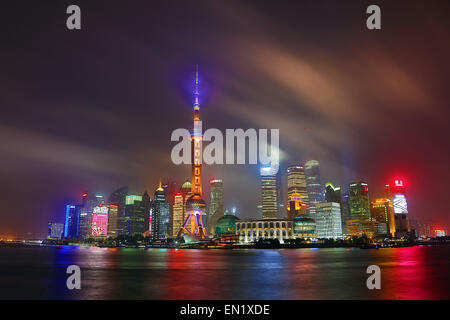 Skyline von Pudong, Shanghai, China Photo by: Paul Brown - Stockfoto