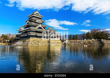 Mittelalterliche Burg Matsumoto in der eastern Honshu, Japan - Stockfoto