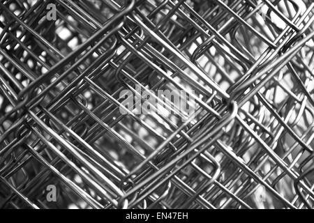 Metallgewebe Draht Closeup schwarz / weiß Stockfoto, Bild: 81842957 ...