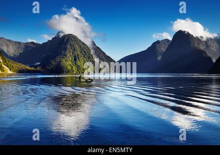 Fjord Milford Sound, Südinsel, Neuseeland - Stockfoto