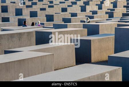Denkmal für die ermordeten Juden Europas, Holocaust-Mahnmal, Berlin, Deutschland - Stockfoto