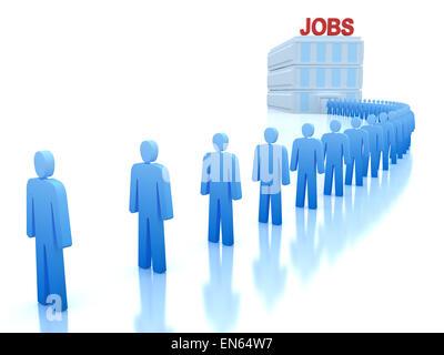 Arbeitszentrum: Arbeitslose einen Job suchen - Stockfoto