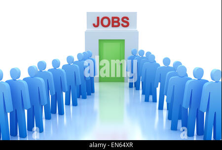 Arbeitszentrum: Menschen auf der Suche nach einem job - Stockfoto