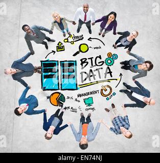 Vielfalt Menschen Big Data Management Teamwork Geschäftskonzept - Stockfoto