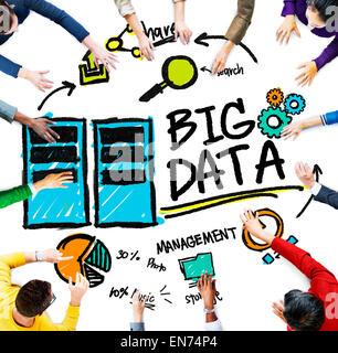 Diversity Menschen Big Data Management Teamwork Diskussion-Konzept - Stockfoto