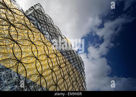 BIRMINGHAM, Vereinigtes Königreich - 29. April 2015. - die Bibliothek von MECANOO ARCHITECTEN, Centenary Square, - Stockfoto