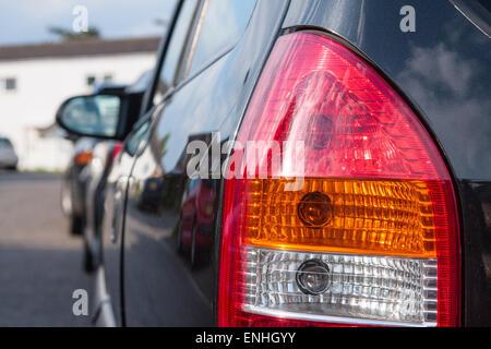 Nahaufnahme von einem hinteren Licht Cluster auf einem Vauxhall Zafira - Stockfoto