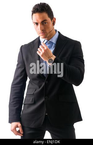 Eleganten Mann Ressed als Leibwächter oder Security agent - Stockfoto