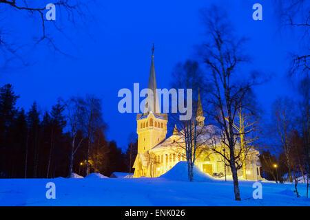 Ortsgemeinde, Jokkmokk, Lappland, Arctic Circle, Schweden, Skandinavien, Europa - Stockfoto