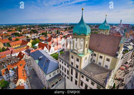 Augsburg, Deutschland, alte Stadt Stadtbild. - Stockfoto