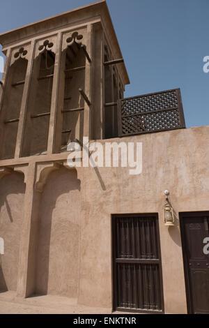 Vereinigte Arabische Emirate, Dubai. Al Bastakiya Viertel, bekannt für seine historischen Wind Turm Häuser, etwa - Stockfoto