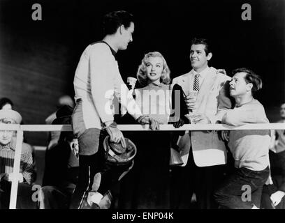 Der Feuerball, USA 1950, auch bekannt als: Rollschuhfieber, Regie: Tay Garnett, Monia: Mickey Rooney, Marilyn Monroe, - Stockfoto