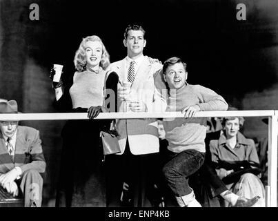 Der Feuerball, USA 1950, auch bekannt als: Rollschuhfieber, Regie: Tay Carnett, Monia: Marilyn Monroe, James Brown, - Stockfoto