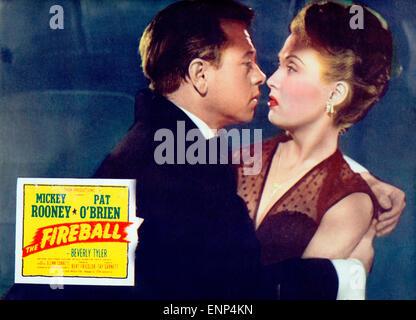 Der Feuerball, USA 1950, auch bekannt als: Rollschuhfieber, Regie: Tay Carnett, Monia: Mickey Rooney, Beverly Tyler - Stockfoto