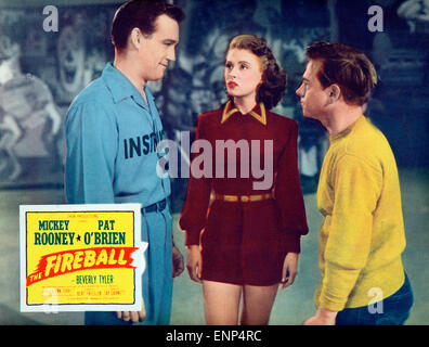 Der Feuerball, USA 1950, auch bekannt als: Rollschuhfieber, Regie: Tay Carnett, Monia: Mickey Rooney, Beverly Tyler, - Stockfoto