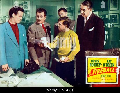 Der Feuerball, USA 1950, auch bekannt als: Rollschuhfieber, Regie: Tay Carnett, Monia: Mickey Rooney, Milburn Stone, - Stockfoto