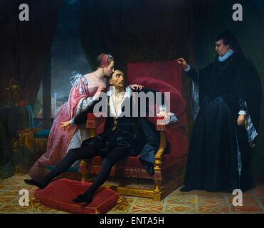 """Dem Tod von Charles IX, zögern zur hand die Regentschaft Charles IX sterben, Catherine handeln """"de Medici 25.10.2013 - Stockfoto"""
