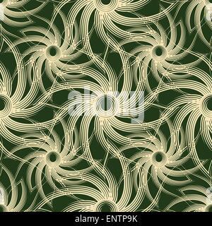 Nahtlose abstrakten Wirbel Muster. Kein Farbverlauf verwendet. - Stockfoto