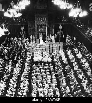 Das House Of Lords während der Zeremonie von Königin Elizabeth und The Duke of Edinburgh, das neue Parlament zu öffnen. 22. April 1966.