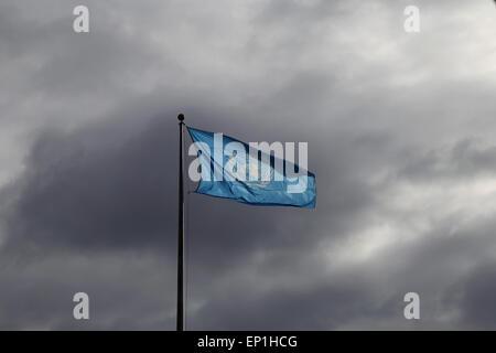 Die Flagge am Hauptsitz der Vereinten Nationen. New York City. USA. - Stockfoto
