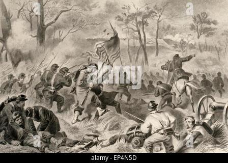 Eroberung von Fort Donelson, Tennessee USA Bürgerkrieg - Stockfoto