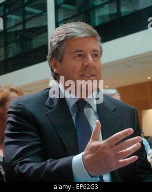"""Josef Ackermann (Vorstandsvorsitzender der Deutschen Bank) - Veranstaltung Zum Thema """"Internationale Finanzmaerkte - Stockfoto"""