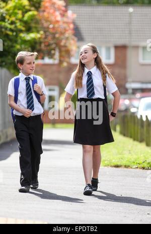 Schüler in der einheitlichen Schule UK