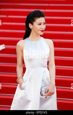 "Cannes, Ca, Frankreich. 16. Mai 2015. Yang Zishan.premiere ""Meine Mutter"". Cannes Film Festival 2015.Cannes, France.May - Stockfoto"