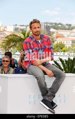 "16. Mai 2015 - Cannes, Ca, Frankreich - Matthias Schoenaerts.photo Anruf ""Maryland - Störung"". Cannes Film Festival - Stockfoto"