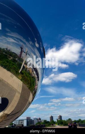 Queen Elizabeth Olympic Park, dem ehemaligen 2012 Olympischen Spiele in London Gelände, Stratford, East London, - Stockfoto