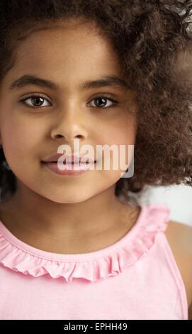Closeup Portrait eines süßen kleinen Mädchens - Stockfoto