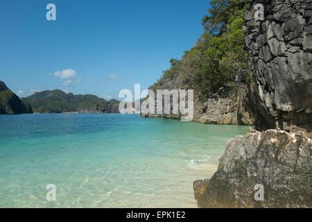 Eine tropische Landschaft auf den Philippinen - Stockfoto
