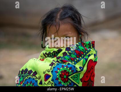 Panama, Darien Provinz Puerta Lara, Wounaan Stamm Mädchen - Stockfoto