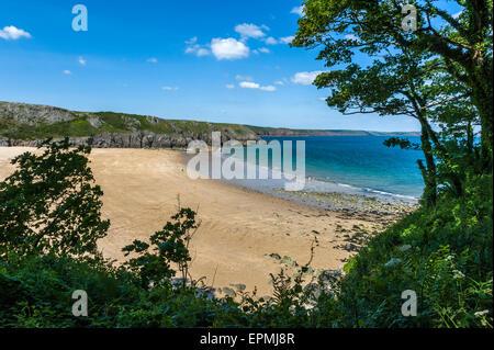 Barafundle Bay. Pembrokeshire. Wales. Cymru. VEREINIGTES KÖNIGREICH. Vereinigtes Königreich - Stockfoto