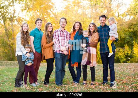Porträt der Familie lächelnd - Stockfoto
