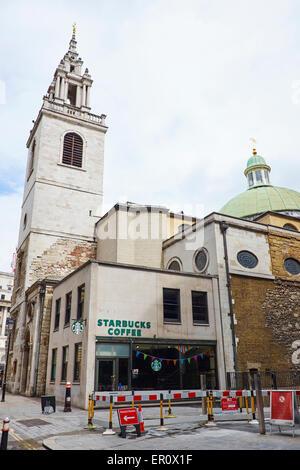 Parish Church St. Stephen Walbrook London UK - Stockfoto