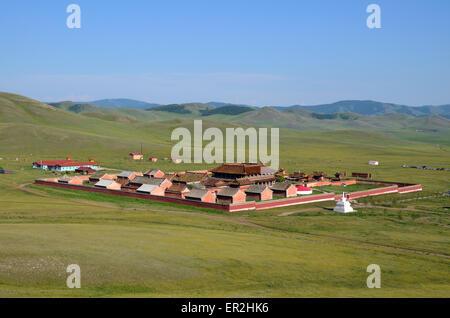 Das Kloster Amarbayasgalant in der nördlichen Mongolei, Selenge Provinz. - Stockfoto