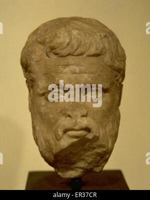 Platon (428/427-348/347 v. Chr.). Philosoph und Mathematiker im klassischen Griechenland. Büste. 2. BIS 3. JAHRHUNDERT - Stockfoto
