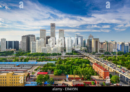 Peking, China CBD Skyline. Stockfoto